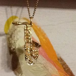Swarovski Saxophone Necklace